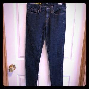 J Crew Toothpick Stretch Skinny Jeans, Size 24
